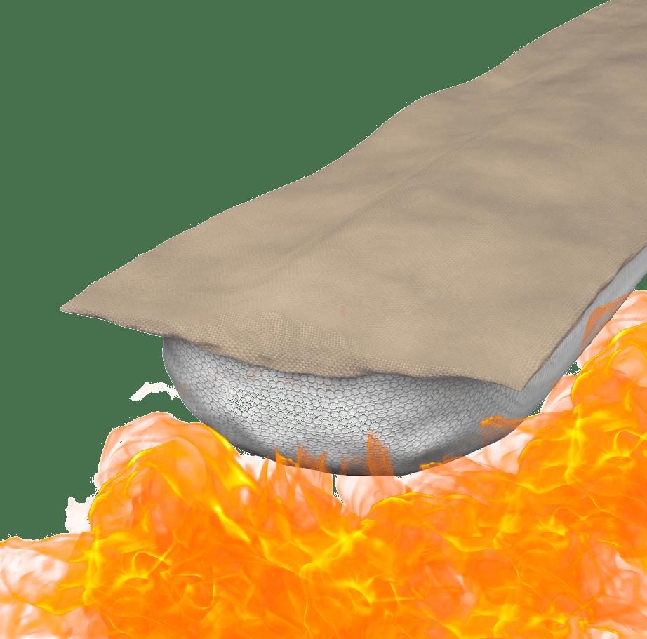 Nappe M coupe-feu pour le bâtiment